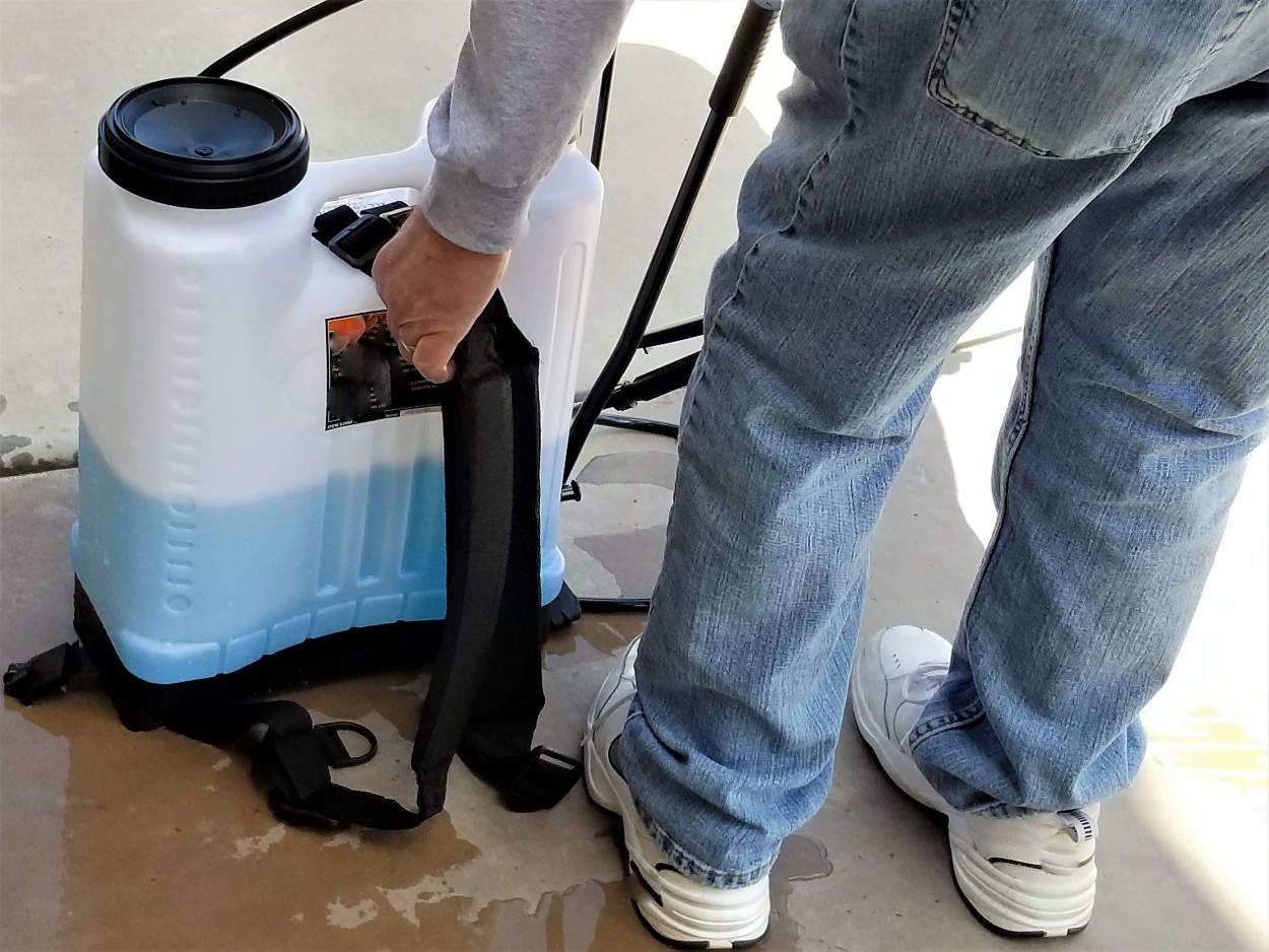 8) The Backpack sprayer