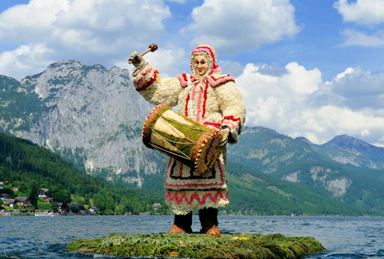 Flower Festival in Austria. Bad Aussee